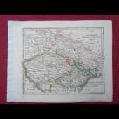 Gravure Carte Allemagne BOEHMEN Maehren Schlesien époque 1820
