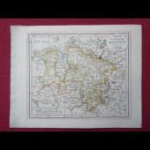 Gravure Carte Allemagne HANNOVER époque 1820