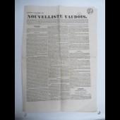 Journal Nouvelliste Vaudois N°96 de 1836 Suisse