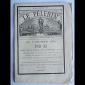 Journal LE PELERIN Février 1878 Pape PIE IX