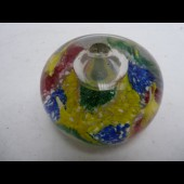 Boule presse-papier en sulfure encrier