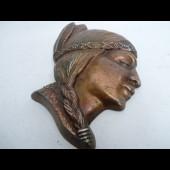 Visage d'indien en médaillon décoratif
