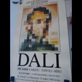 Affiche Salvador DALI Exposition Divonne Les Bains 1988