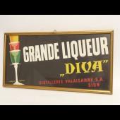 Plaque publicitaire alcool liqueur DIVA Suisse