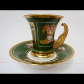 Ancienne tasse porcelaine Style Empire
