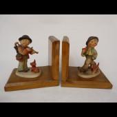 Paire de serre-livres Hummel figurine