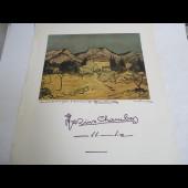 Affiche signe par Marius Andre Chambaz 1975