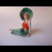 Baigneuse porcelaine Art déco