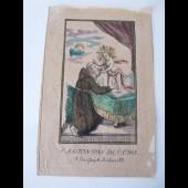"""Image religieuse fin 18ème/début 19 ème siècle """" S.Antonyus """""""