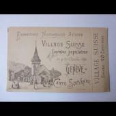 CPA Souvenir Exposition Village Suisse 1986
