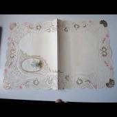 Couverture de correspondance gaufré XIXe siècle