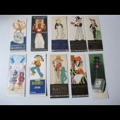 Collection de 10 signets/marque pages Vincent - Fabiano - Poulbot - Sarraillon