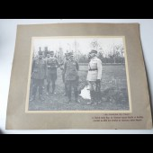 Photographie guerre General PIAZ,FAYOLLE et DUCHÊNE Chasseurs Alpins
