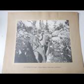 Photographie guerre 1914-18 Officiers Français et Italiens