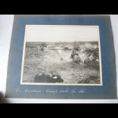 Photographie guerre en Macedoine camp Serbe