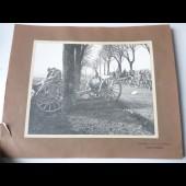 Photographie guerre Front de Lorraine convoi d'artillerie
