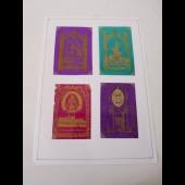 Quatre images religieuses en celluloïd